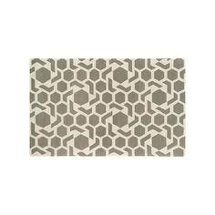 Kaleen Revolution Geometric Star Wool Rug, Grey