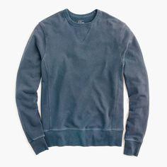 J.Crew - Garment-dyed crewneck sweatshirt   (LARGE IN DUSTY COAL PLEASE)