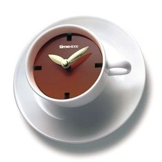 Coffee Cup Style Wall Clock- yes please.