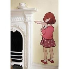 Picture of Belle and Boo Belle Hugs Boo Wall Sticker Small