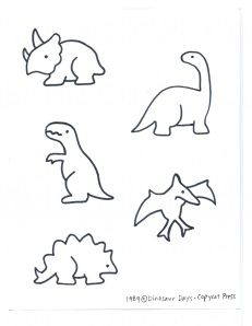 I wanna do outlines of dinos instead of leaves for art in the baby's room