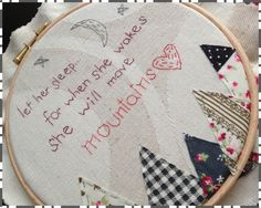 """16.5"""" personalised embroidery, mounted in hoop for a lovely display piece. Any theme, wording, names etc, just ask!! From £18 in this size, can be ordered HERE: http://www.wowthankyou.co.uk/bizzie-buttons/products/personalised-embroidery-displayed-in-hoop---165cm/"""
