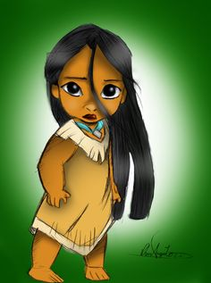"Little Pocahontas by Daviskingdom.deviantart.com on @deviantART - First in a series showing Disney girls as children: Pocahontas from ""Pocahontas"". Isn't she just the cutest thing?"