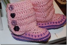 Ugg Boots for kids, free pattern☺