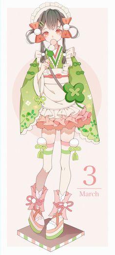 Anime Art Girl Kawaii Character Design 68 Ideas For 2019 Anime Girl Cute, Kawaii Anime Girl, Anime Art Girl, Beautiful Anime Girl, Loli Kawaii, Kawaii Chibi, Kawaii Art, Anime Kimono, Chica Anime Manga