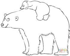 Mamma orso polare con cucciolo | Super Coloring