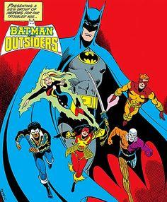 Batman & the Outsiders - DC Comics - Team profile - Part #1 1983-86 - Writeups.org Comic Book Pages, Comic Book Artists, Comic Books Art, Comic Art, Die Outsider, Dc Comics, The Outsiders 1983, The New Teen Titans, The Spectre