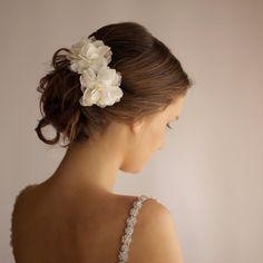 Wedding Hair Piece Vintage Lace - Wedding Hair Flower Clip Set of 2 - Bridal Hair Piece - Bohemian Wedding on Etsy, $46.00