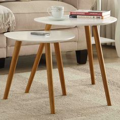 Convenience Concepts Oslo 2 Piece Nesting Tables