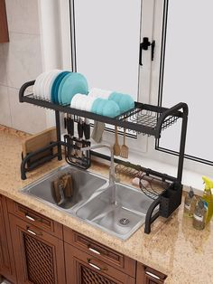 Dish Sink Drain Rack Kitchen – home accessories Home Decor Furniture, Kitchen Furniture, Kitchen Interior, Kitchen Decor, Diy Kitchen Storage, Kitchen Organization, Kitchen Space Savers, Kitchen Sink Design, House Essentials