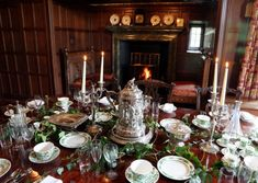 Depicting a scene from 'Great Expectations', the table is laid for Miss Havisham's wedding feast