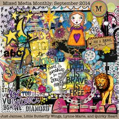 Mixed Media Monthly - Sept. Main Kit Lillypad