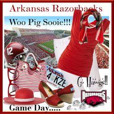 Arkansas RAZORBACKS, created by mfhurst on Polyvore