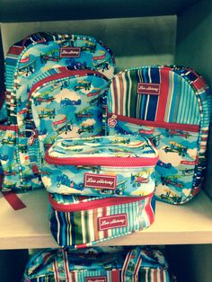 Lou Harvey Alec the Aviator school bags & lunch box coolers.
