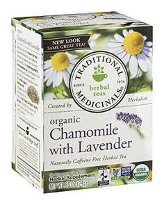 Traditional Medicinals Herbal Tea Organic Chamomile with Lavender -- 16 Tea Bags -- To view further for this article, visit the image link. #TeaSamplers