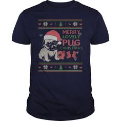 Ugly Christmas Sweater  style Printed Tee, Order HERE: https://www.sunfrog.com/Pets/Ugly-Christmas-Sweater--style-Printed-Tee-Guys-Navy-Blue.html?id=41088#puglovers #christmasgifts #xmasgifts #ilovemypugs