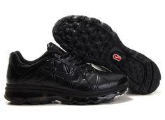 Nike Air Max 2011 Leather Mens All Black