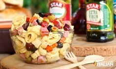 The Slow Roasted Italian - Printable Recipes: Muffaletta Tortellini Salad