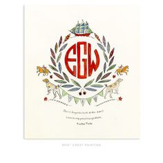 Rachel Rogers Design beautiful custom monograms