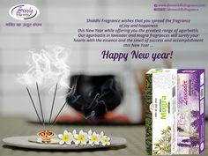 """Happy New Year from Shree Shiddhi Fragrance   """" Shiddhi Fragrance wishes that you spread the fragrance of joy and happiness this New Year while offering you the greatest range of agarbattis. Our agarbattis in lavender and mogra fragrances will surely your hearts with the essence and the smell of success and accomplishment this New Year """"  #HappyNewYear #ShlokAgarbatti  #SiddhiAgarbatti  #BandhanAgarbatti  #Siddhi3In1Agarbatti  #PreciousPondsAgarbatti  W:http://shreesiddhifragrance.com/"""