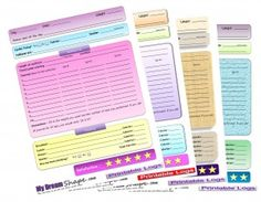 Free Printable Fitness Logs! I love this site great wieght loss tools and clean recipes.