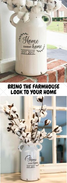 milk can, house warming gift, home buyer gift, housewarming gifts, farmhouse decor, housewarming gift, home and living, gift for homeowners #ad