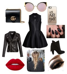 """""""Going Oout"""" by jacobsartorius2002 on Polyvore featuring Lavinia Cadar, Gucci, Casetify, Fendi and Lime Crime"""