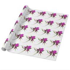 Vector Flower Wrapping Paper $20.95 Made by Zazzle Home