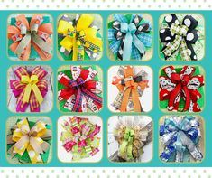 Themed Bow with Medium Tails, Holiday Bow, Seasonal Bow, Medium Tails 8-10 - Thanksgiving