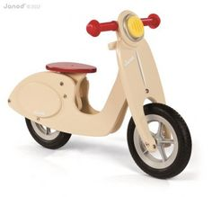 Rowerek biegowy Janod - Scooter waniliowy