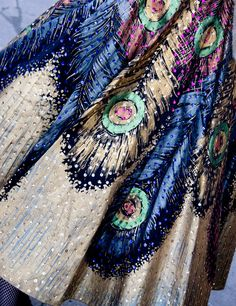 Beautiful peacock detailed dress.