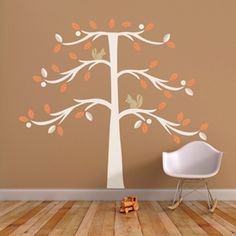 Tree with Squirrel Wall Decals - Trendy Peas | Wall Decor Shops
