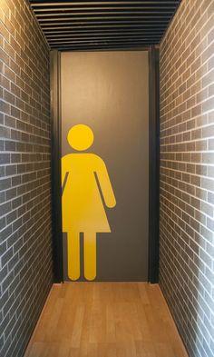The door to the women's restroom...smart