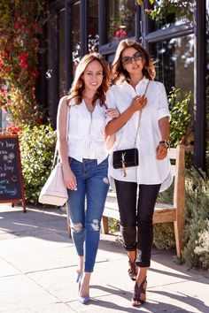 VivaLuxury - Fashion Blog by Annabelle Fleur: JOAN'S ON THIRD :: STUDIO CITY - BANANA REPUBLIC soft-wash poplin tunic | RUPERT SANDERSON Estelle Mesh sandals | BLANK DENIM jeans | SAINT LAURENT small Monogramme tassel chain bag | MIU MIU sunglasses thanks to SUNGLASS HUT | NIALAYA stingray bracelet & rose gold & matte onyx bracelet June 5, 2015