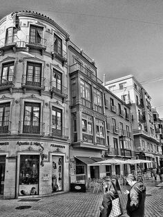 The old town Malaga (Spain).