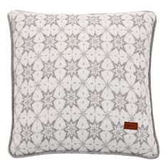 Gant+Vernon+Knit+Cushion+Grey+-+Wool+cushion+with+grey+and+white+geometric+print. Accent+the+beauty+of+your+home+interior+space+with+the+Gant+Vernon+Knit+Cushion+Grey. Inspired+by+Gant's+iconic+shirt+making+heritage+and+the+relaxed+aesthetic+of+New+England+interiors,+Vernon+offers+a+lovely+complement+for+classic+and+contemporary+interior+spaces. Square+in+shape,+Vernon+features+a+grey+geometric+pattern+-+similar+to+the+motifs+found+in+Scandinavian+textiles+-+set+upon+a+white+backdrop+with...