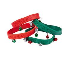 Our Merry Christmas rubber wristbands are the perfect gifts for Santas, parties and organizations.  #santagifts #christmaswristbands