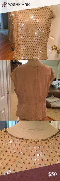 🌸🌼NWOT Escada sequin top Gorgeous Escada sequin top lined top NWOT never worn Escada Tops Blouses