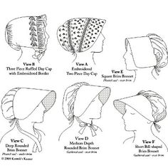 Woman's Caps & Bonnets, 1790-1820 - Amazon Drygoods