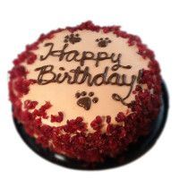 Wet Noses Pink Dog Birthday Cake