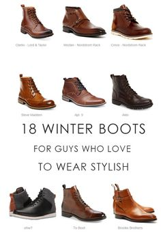 18 winter boots for men who like to wear stylish… Since the weather began to cool down, I started thinking what pair of boots I am going to wear this Winter.