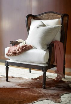 Settle into the arms of the Christopher Wing Chair and drift off to the sultry West Indies in your mind.