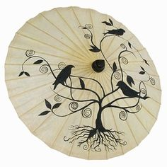 Tree of Life Parasol. (Every girl needs a pretty Parasol for those sunny days, walking around the Farmer's Markets etc... {{smile}} <3 )