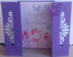 Gatefold card with cut out detail
