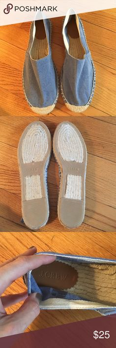 J.Crew Espadrille BRAND NEW J.Crew Espadrille BRAND NEW in a beautiful chambray blue that goes with everything. J. Crew Shoes Espadrilles