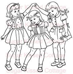 Little Barbie Coloring Pages - Printable Coloring Pages Coloring Sheets For Kids, Coloring Pages For Girls, Coloring Pages To Print, Free Printable Coloring Pages, Coloring Book Pages, Kids Coloring, Folk Embroidery, Embroidery Patterns, Sue Sunbonnet