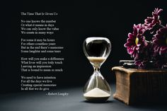 The Time That Is Given Us is an inspirational poem by Robert Longley about how we never really know how much time we have in this life. Inspirational Poems, Poetry Books, Laughter, Prints, Life