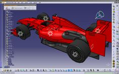 Ferrari Scuderia F1 Formula 1 Racing Car Modeled by Gunes Kocatepe - Solaris Design in CATIA V5 PLM. This model is ready for any engineering and CFD tests.