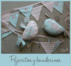 Pajaritos y banderines Handmade Crafts, Diy Crafts, Craft Projects, Projects To Try, Naming Ceremony, Busy Book, Love Sewing, Baby Room Decor, Diy For Kids