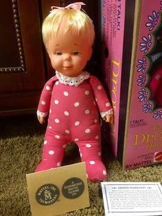 """Mattel Drowsy doll.  My daughter's """"Baby""""."""